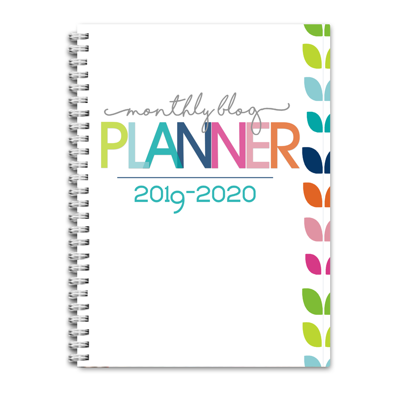 2019-2020 Blog Planner Monthly PDF