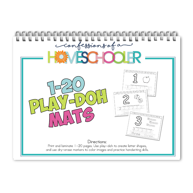 1-20 Play-Doh Mats PDF - Click Image to Close
