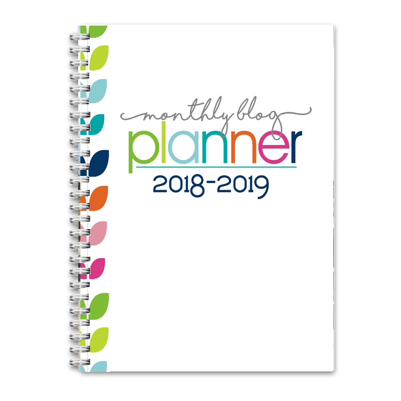 2018-2019 Monthly Blog Planner - PDF