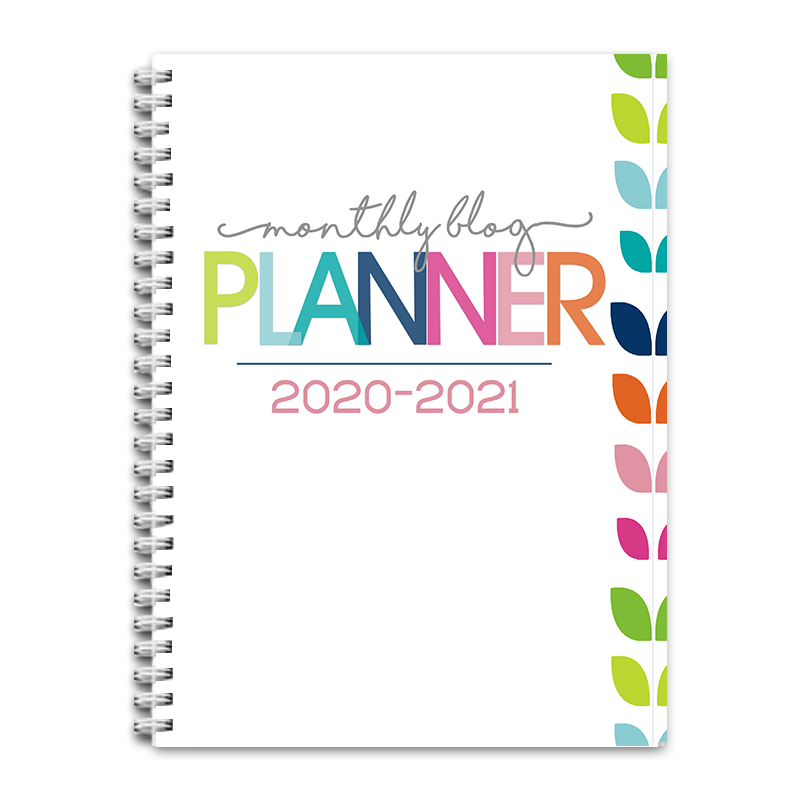 2020-2021 Monthly Blog Planner PDF