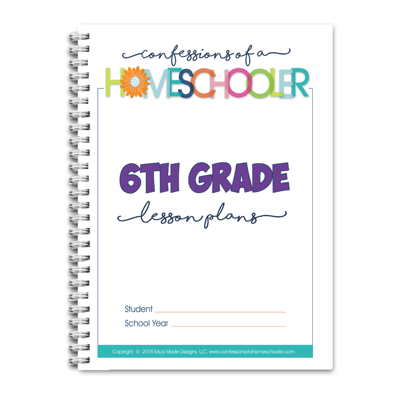 6th Grade Lesson Plans DOC (EDITABLE)