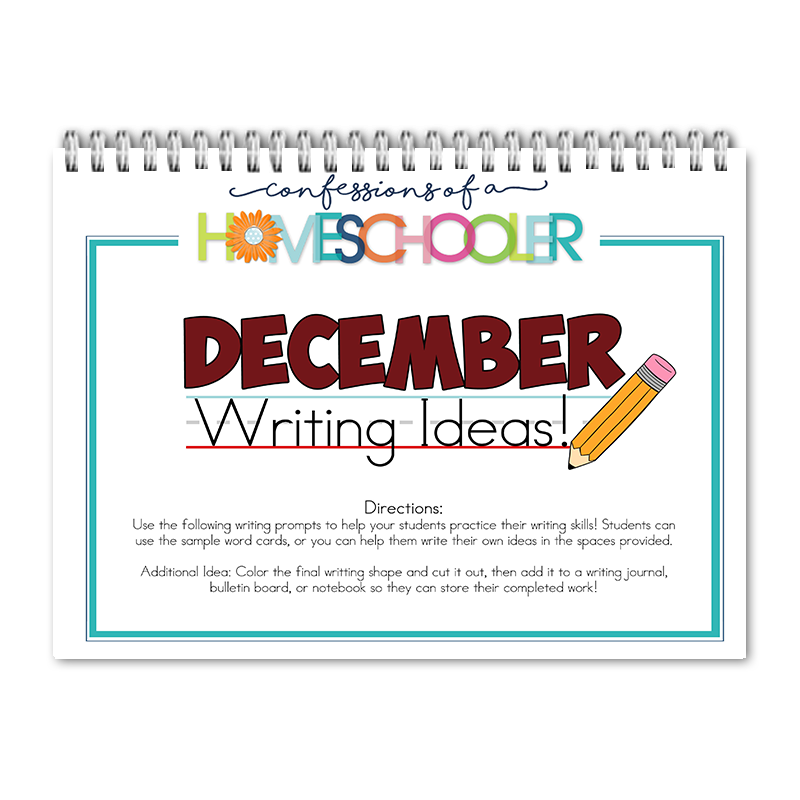 December Writing Prompts PDF - Click Image to Close
