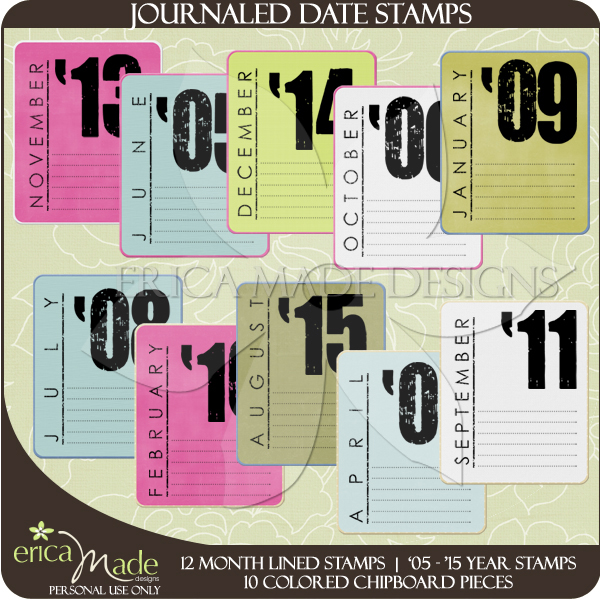 Journal Date Stamps