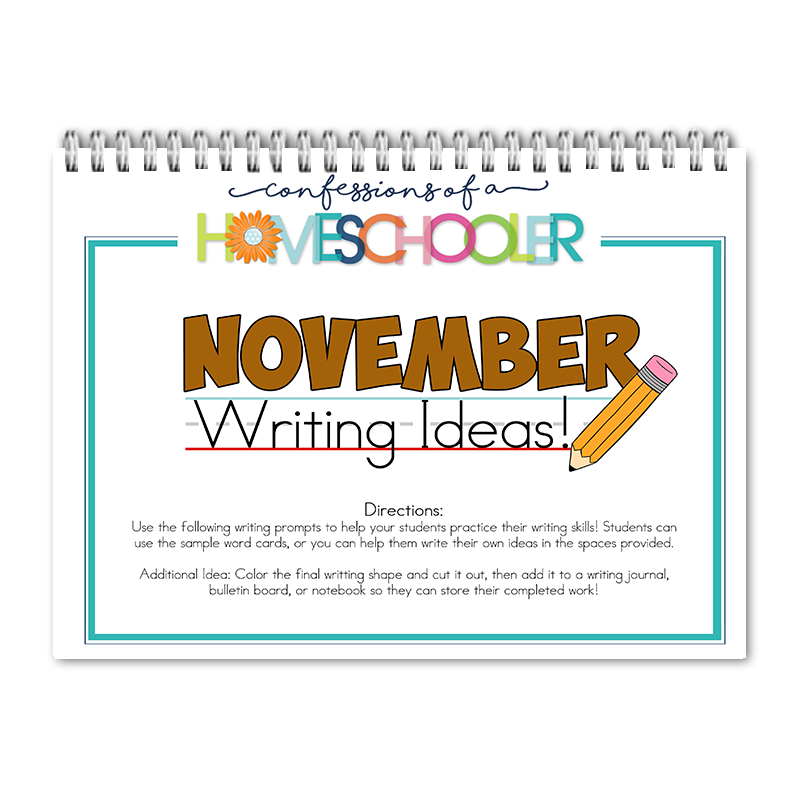 November Writing Prompts PDF - Click Image to Close