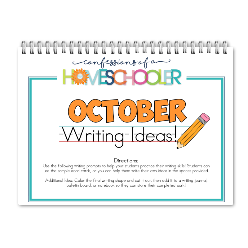 October Writing Prompts PDF