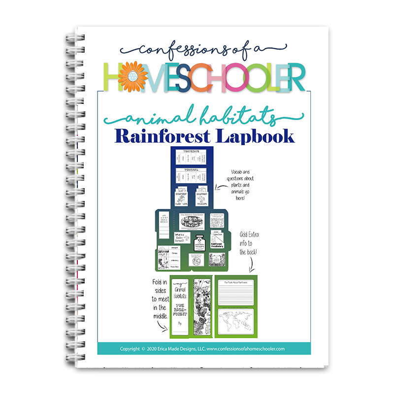 Animal Habitat: Rainforest Lapbook PDF