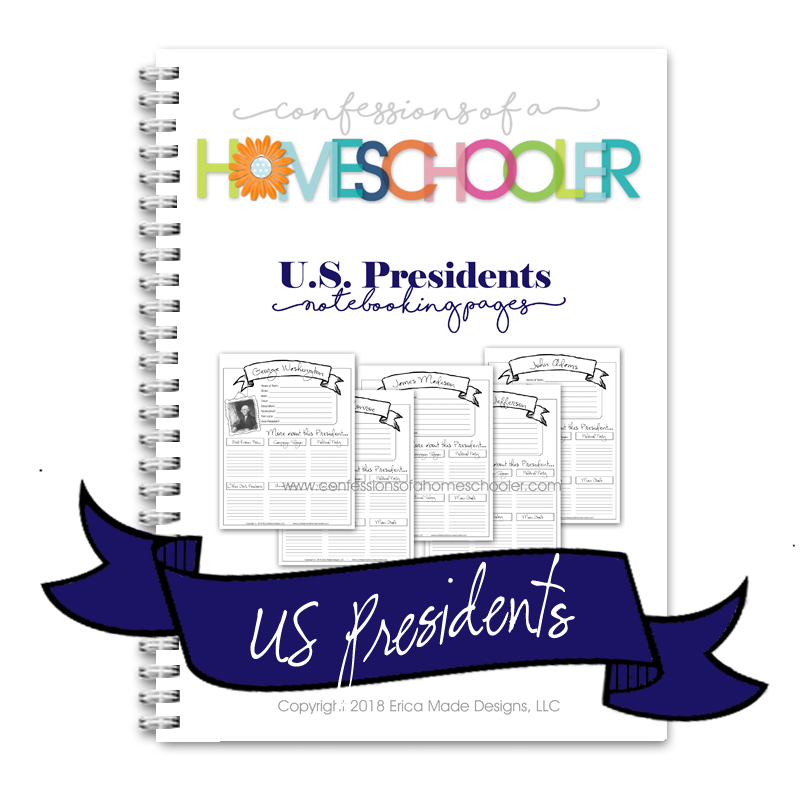 U.S. Presidents Notebooking Bundle - PDF