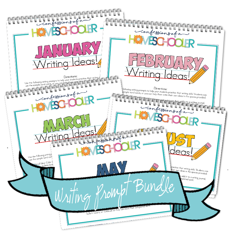 Jan - Dec Themed Writing Prompt Bundle PDF
