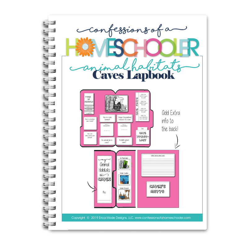 Animal Habitat: Caves Lapbook PDF