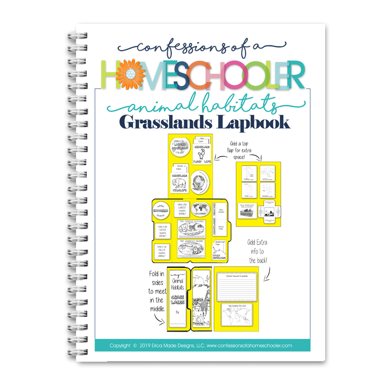 Animal Habitat: Grasslands Lapbook PDF