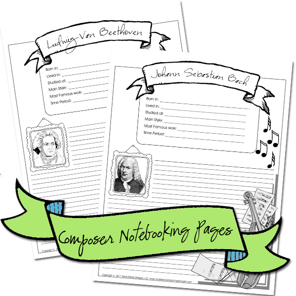 Composer Notebooking Pages Bundle PDF