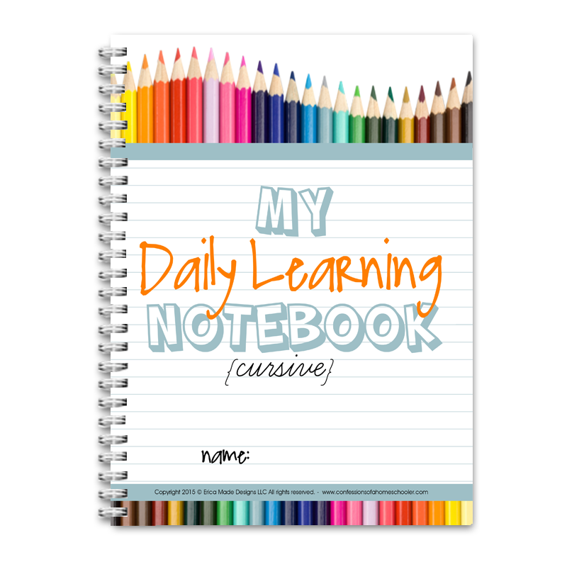 Daily Learning Notebook: Cursive - PDF