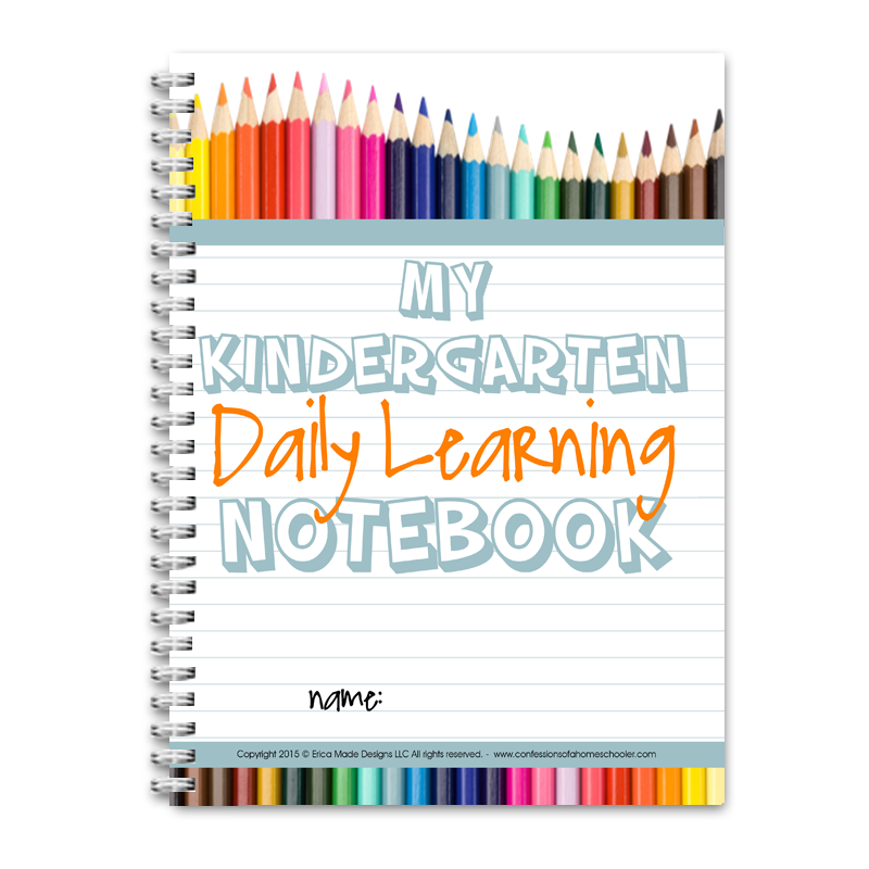 Daily Learning Notebook - Kindergarten CLASSROOM PDF