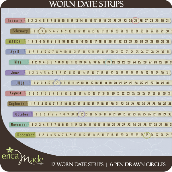 Worn Date Strips