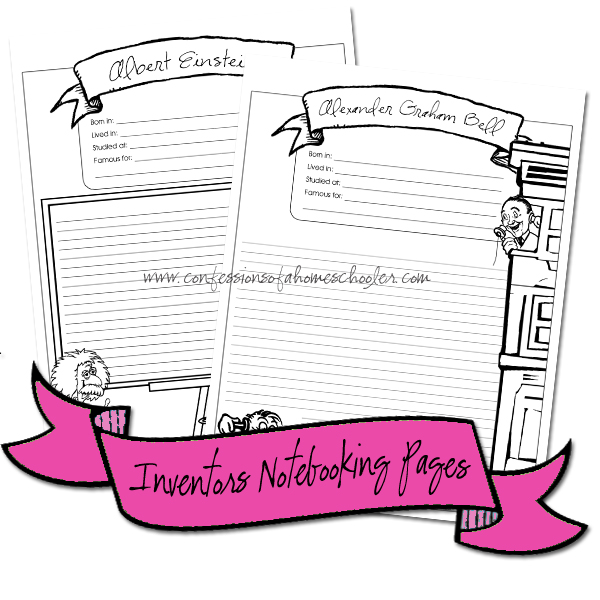 Scientists & Inventors Notebooking Pages PDF