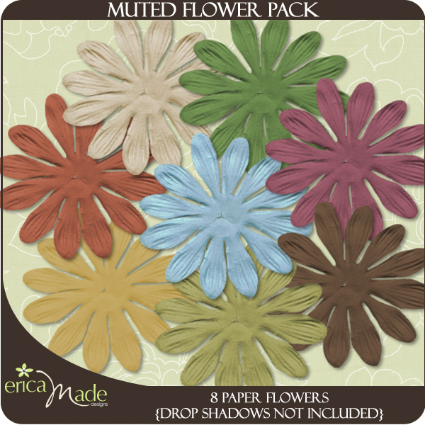 Muted Flower Pack - Click Image to Close