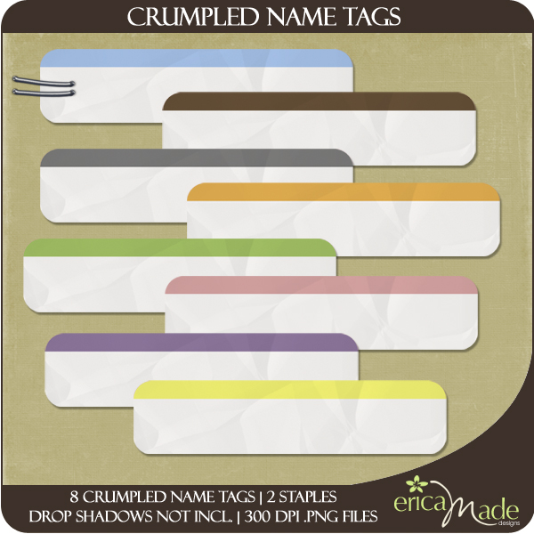 Crumpled Name Tags