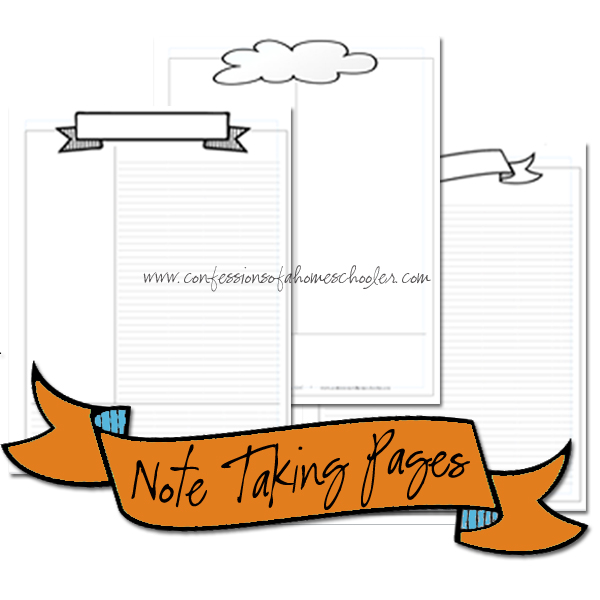 Note Taking Pages Bundle PDF