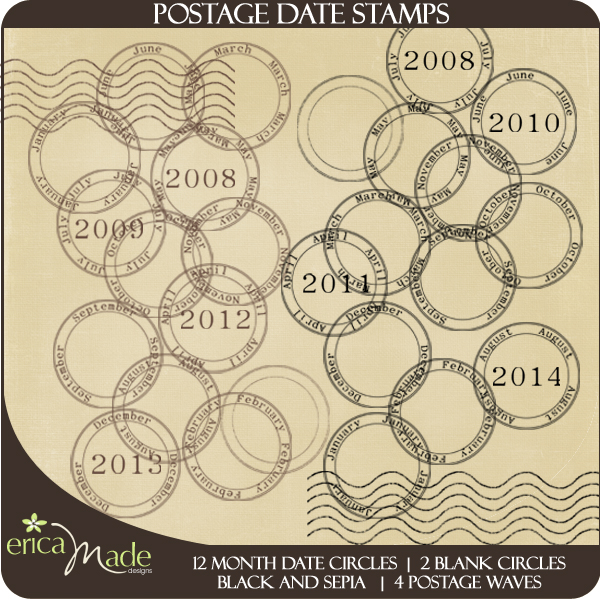 Postage Date Stamps