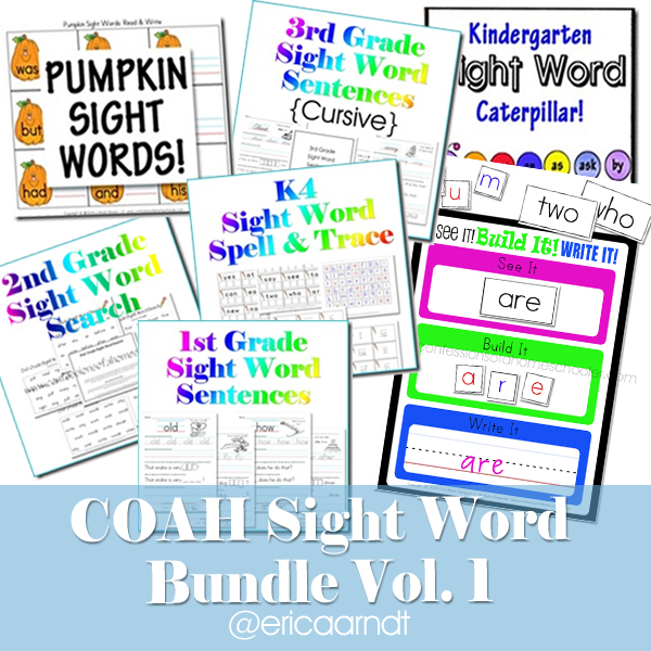 Sight Word Bundle Pack Vol 1 PDF