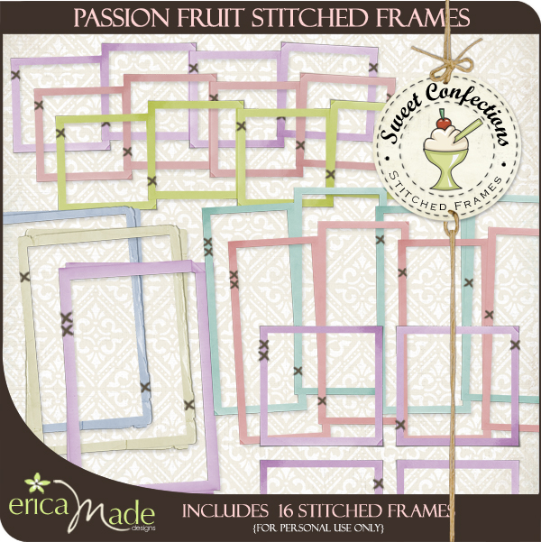 Sweet Confections Stitched Frames - Click Image to Close