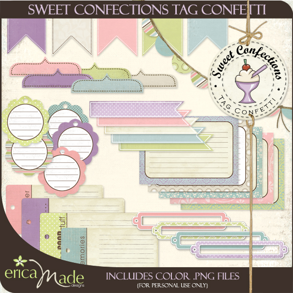 Sweet Confections Tag Confetti